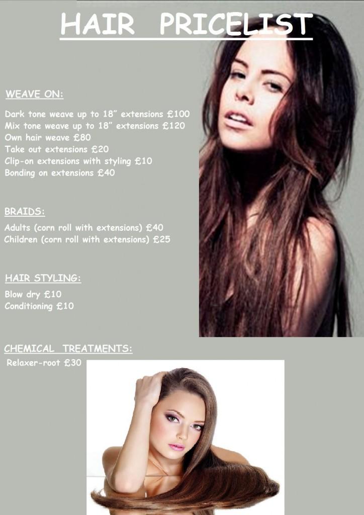 HAIR pricelist poster (yusuf)